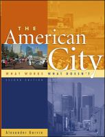 The cover of 'The  			American City'