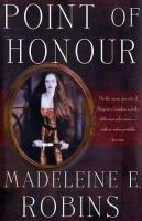 the cover of Point of Honour by Madeleine E. Robins