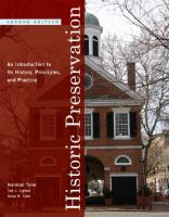 The cover of  			'Historic Preservation'