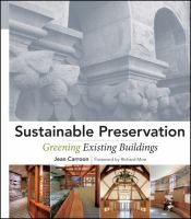 The cover of 'Sustainable Preservation'