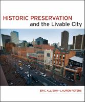 The cover of 'Historic Preservation and the Livable City'
