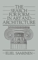 The cover of 'The Search for Form in Art and Architecture'