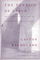 The cover of 'The Poetics of Space'