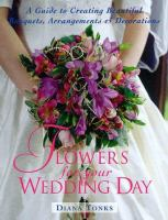 cover of Flowers for Your Wedding Day by Diana Tonks