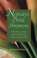 cover of Nobody's Child Anymore by Barbara Bartocci