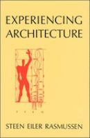 The cover of  			'Experiencing Architecture'