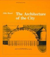 The cover of  			'The Architecture of the City'