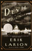The cover of 'The Devil in the White City'