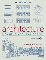 The cover of 'Architecture: Form, Space, and Order'