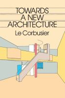 The cover of  			'Towards a New Architecture'