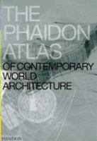 The cover of 'The Phaidon Atlas of Contemporary World Architecture'