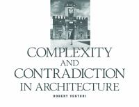 The cover of  			'Complexity and Contradiction in Architecture'