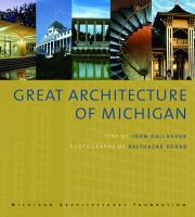 The cover of  			'Great Architecture of Michigan'