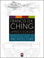 The cover of 'Introduction to Architecture'