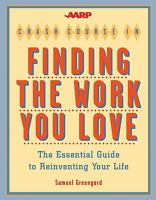 AARP Crash Course in Finding the Work You Love book cover
