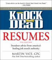 Knock em Dead Resumes book cover