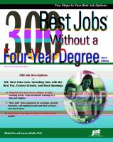 300 Best Jobs without a 4 year degree book cover