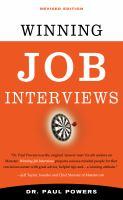 Winning Job Interviews Book Cover